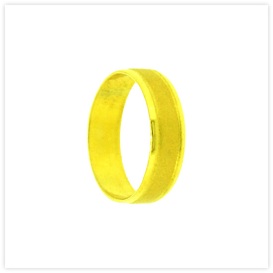 23k Yellow Gold Polished Matte Solid Flat Classic Wedding Band Rings (Wedding Rings for Women & Mens)