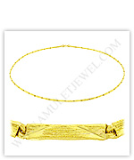 23k Yellow Gold Matte Diamond-Cut Solid Square Barrel Necklaces