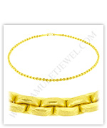 23k Yellow Gold Matte Diamond-Cut Hollow Anchor Necklaces