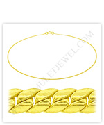 23k Yellow Gold Polished Solid Domed Curb Necklaces