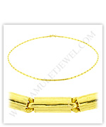 23k Yellow Gold Polished Solid Round Barrel Necklaces