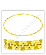 23k Yellow Gold Polished Solid Rolo Necklaces