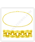 23k Yellow Gold Polished Solid Double Link Necklaces