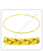 23k Yellow Gold Matte Diamond-Cut Solid Palma Necklaces
