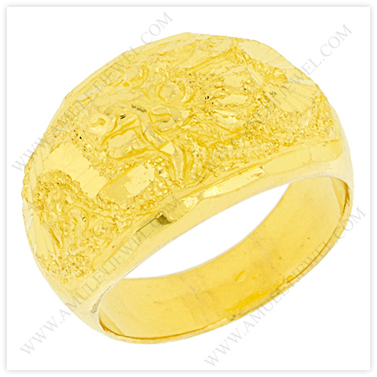 Mens Gold Rings with Dragon Gold Dragon Ring from Thailand AJ