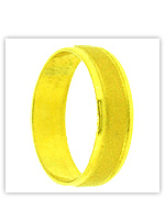 23k Yellow Polished Matte Solid Flat Classic Wedding Band Rings