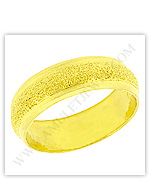 23k Yellow Polished Sparkling Solid Domed Classic Wedding Band Rings