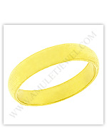 23k Yellow Polished Solid Domed Classic Wedding Band Rings