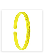23k Yellow Polished Sparkling Solid Flat Cuff Bangle Bracelets