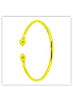 23k Yellow Polished Hollow Round Cuff Bangle Bracelets