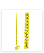 23k Yellow Matte Diamond-Cut Hollow Braided Link Chain Heart Pendant Bracelets