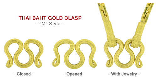 M-Style Gold Baht Clasps