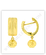 Gold Ball Earrings (18kt Gold Earrings in Dangle Styles)