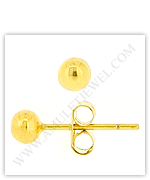Ball Stud Cheap-Gold Earrings, Gold Button Earrings