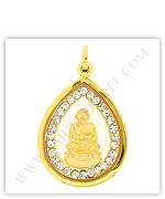Gold Buddhist Famous Monks Amulets Pendants