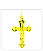 Gold Cross Pendants, Gold Crucifix Pendants, Gold Christian Pendants