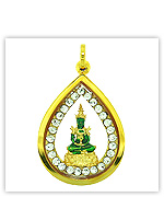 Mini Buddha Merchandises from Gold Emerald Buddha Amulets