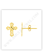 Gold Cross Earrings and More Fancy Stud Styles