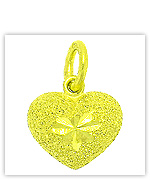 Yellow Gold Heart Pendants