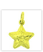 Yellow Gold Pendant in Star Style