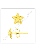 Gold Stud Earrings (Adult & Children's Star Stud Gold Earrings)